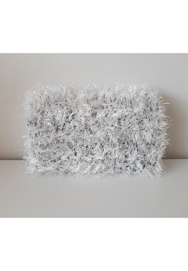 Χνουδωτή τσάντα άσπρη