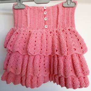 Ροζ φούστα με διακοσμητικά κουμπιά