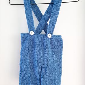 Γαλάζιο πλεκτό παντελόνι
