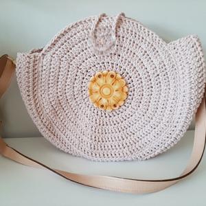 Στρογγυλή Ροζ Τσάντα